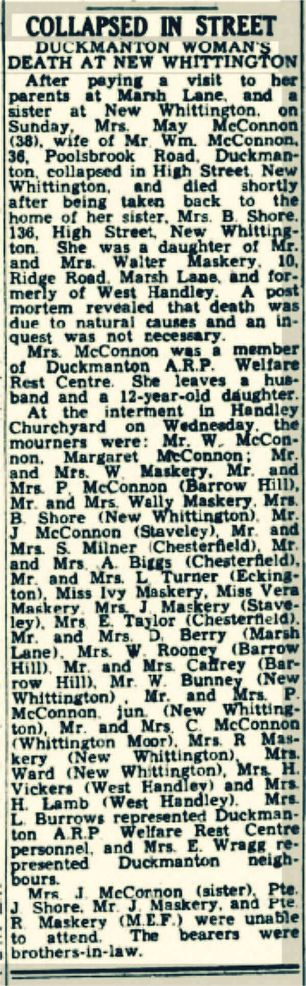 May McConnon death